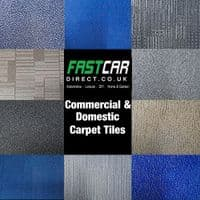 CARPET TILES 50 x 50cm 5m2 HEAVY DUTY OFFICE RETAIL SHOP FLOORING GREY BLUE